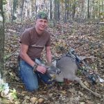 Dave's first deer at his new house.