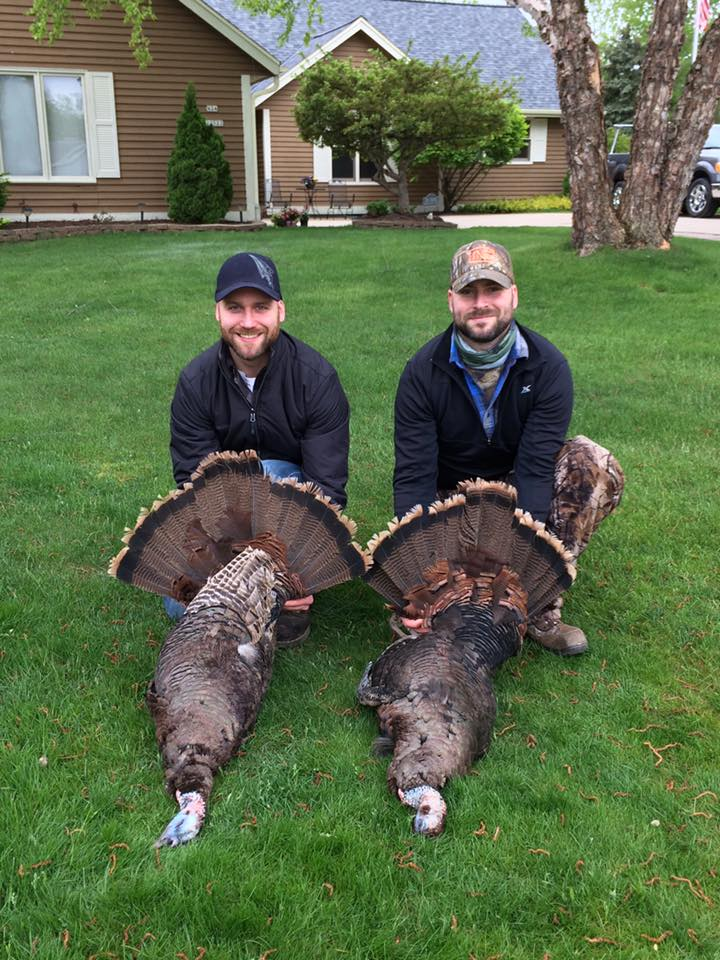 Geoff and I with our back-to-back birds.
