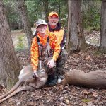 Dylan's first deer, taken in Ontario.