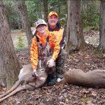 Dylan's first deer, taken in Ontario.