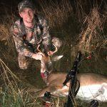 Eric's first buck!