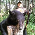 The Fur Droppers with a beautiful Wisconsin black bear.